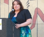 PSR-LA Executive Director Martha Dina Arguello addresses the Toxies attendees!
