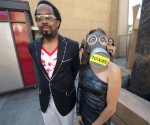 Emcee Cecil Corbin-Mark and Hostess Adriana Caro.