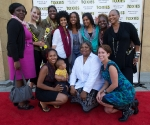 BPA poses with Black Women for Wellness and members of the Reproductive Coalition of Los Angeles.