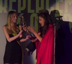 HFR accepts her award for Worst Replacement in a Series