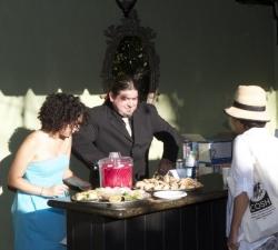Christina Medina, Oscar Morales and guest